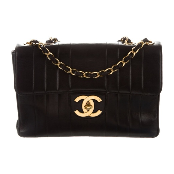 aeab8cf3e4ed CHANEL Bags | Sale Jumbo 24k Gold Vertical Quilted Flap | Poshmark